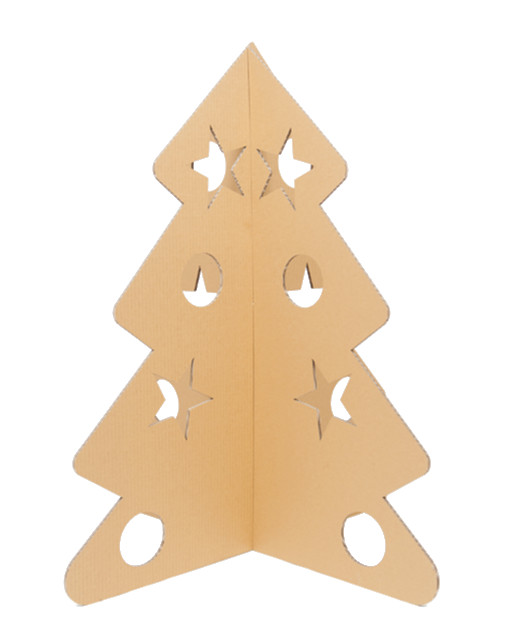 Árbol de cartón de navidad