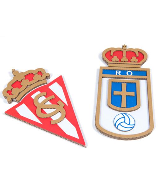 Escudos de cartón Real Oviedo y Sporting