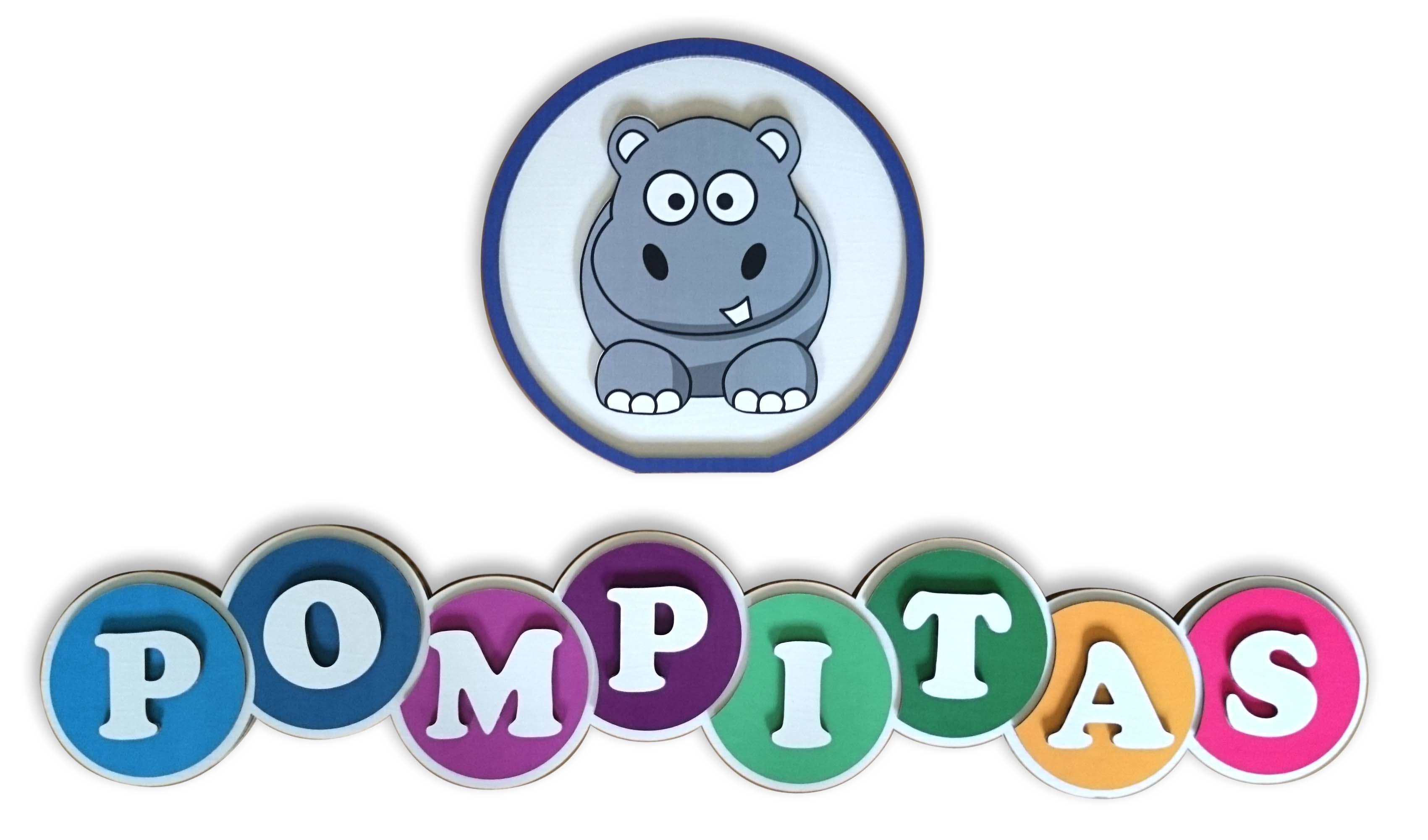 logotipo de cartón Pompitas