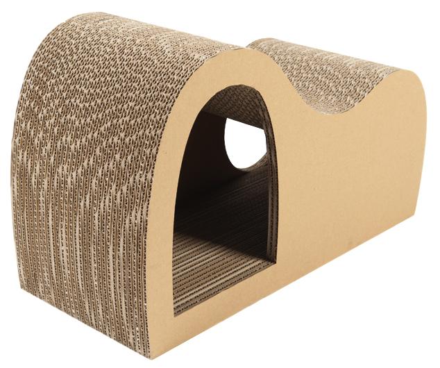 Rascador para gatos cueva de cartón