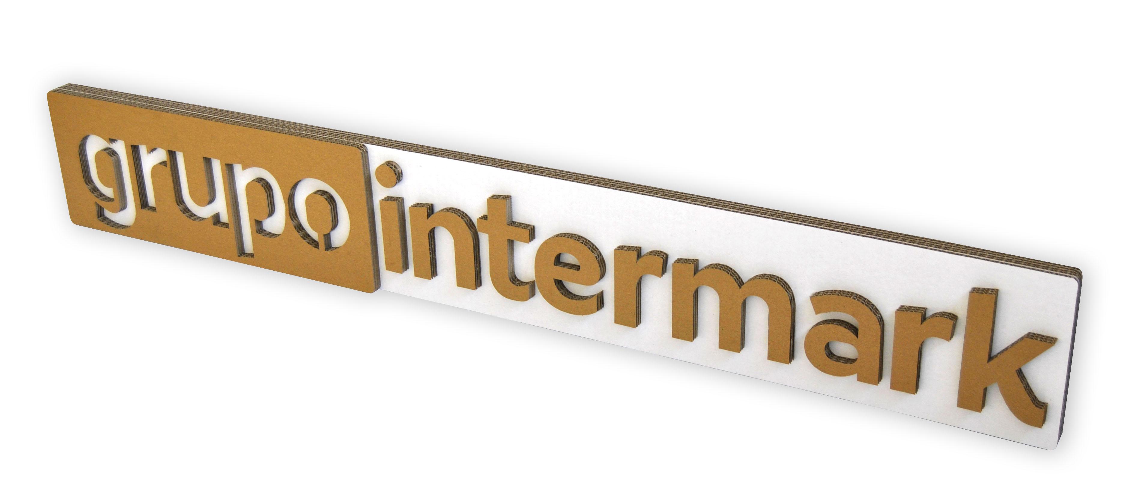 Logo de cartón Grupo Intermark
